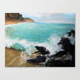 Rocky Blue Sea Canvas Print