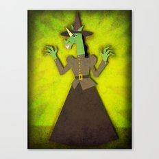 Wicked Witch Unicorn Canvas Print