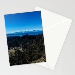 View of the Olympic Mountains Stationery Cards
