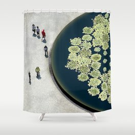 lily pads & people Shower Curtain