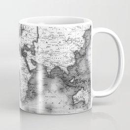 Black and White World Map (1911) Coffee Mug