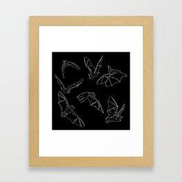 Flying Bats Pattern Framed Art Print