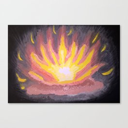 Fire in the forest. Canvas Print