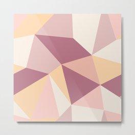 Modern Abstract Geometric Print Pattern No. 1 Metal Print