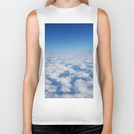 Blue Sky White Clouds Color Photography Biker Tank