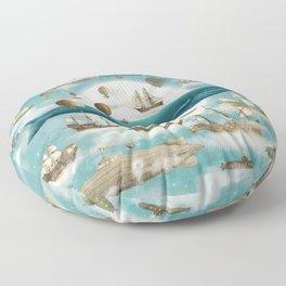 Ocean Meets Sky - Landscape print  Floor Pillow