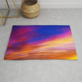 rainbow clouds Rug