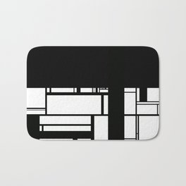 Black and White Bath Mat