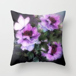 PEONIES IN BLOOM 03 Throw Pillow