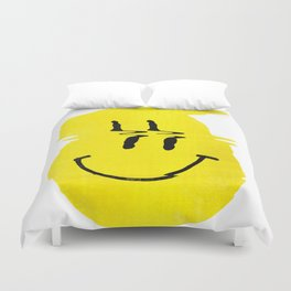 Smiley Glitch Duvet Cover