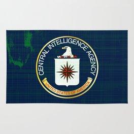 CIA Flag Grunge Rug
