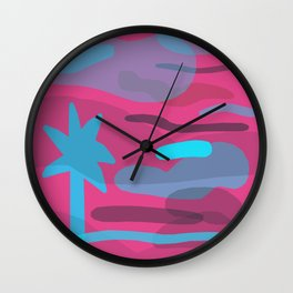 Palm Fade (Cotton Candy) Wall Clock