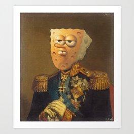 General Spongebob Portrait | Fan Art Painting Art Print