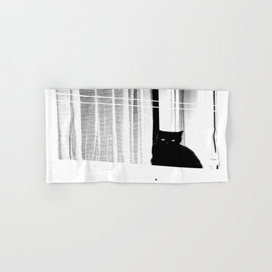 Black Cat  Hand & Bath Towel