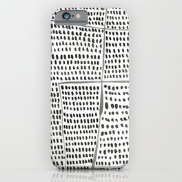 Categorize Print in Black and White iPhone Case