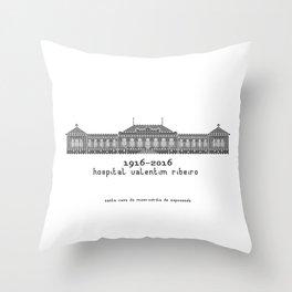 HexArchi - Portugal, Esposende, Hospital Valentim Ribeiro Throw Pillow