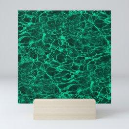 Aqua Green Blue Underwater Wavy Rippling Water Mini Art Print