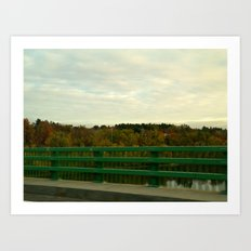 Just another fall drive. Art Print