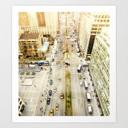 Aerial view of sixth avenue Art Print