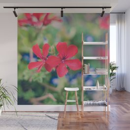 Independence Day Floral Wall Mural
