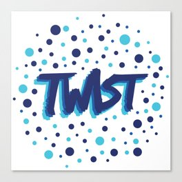 Twist N.3Bis Modele Rond Canvas Print