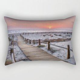 """""""To the beach...""""Cabo de Gata"""". Rectangular Pillow"""
