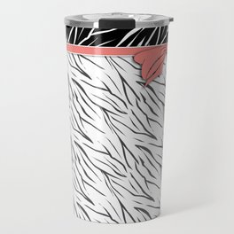 Black and white tiger pattern with pink bow. Travel Mug