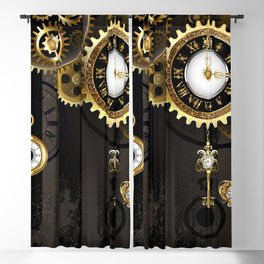 Antique Clock with Keys ( Steampunk ) Blackout Curtain
