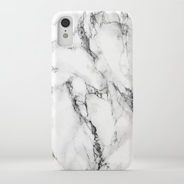White Marble Texture iPhone Case