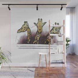 Giraffe Family Wall Mural
