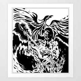 Jimi Hendrix Tribute Art Print