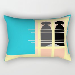 Wind-towers of Bastakiya by Dubai Doodles 003 Rectangular Pillow