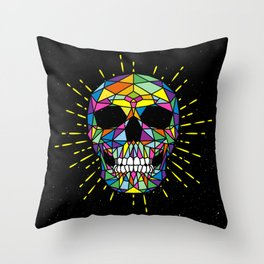 SKULLCOLOR Throw Pillow