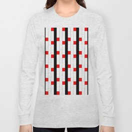 Tribute to mondrian 3- piet,geomtric,geomtrical,abstraction,de  stijl, composition. Long Sleeve T-shirt
