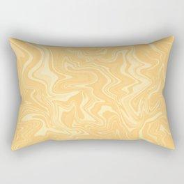 Yellow Liquid Marble Rectangular Pillow