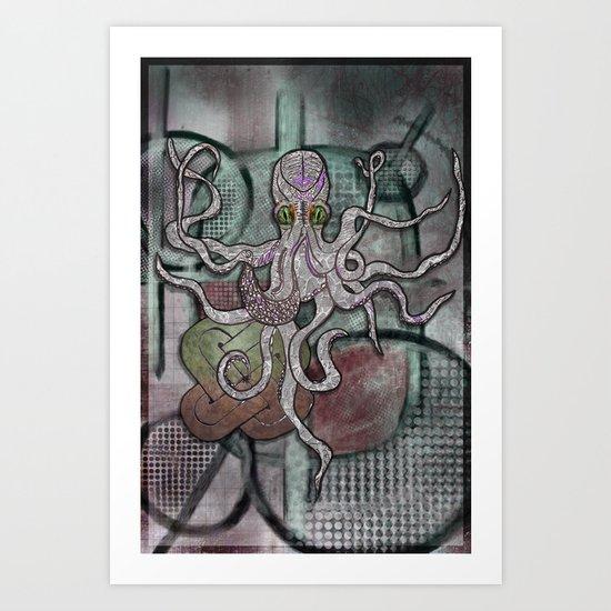 King of The Aquatic Jungle Art Print