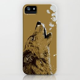 Wolf howling iPhone Case