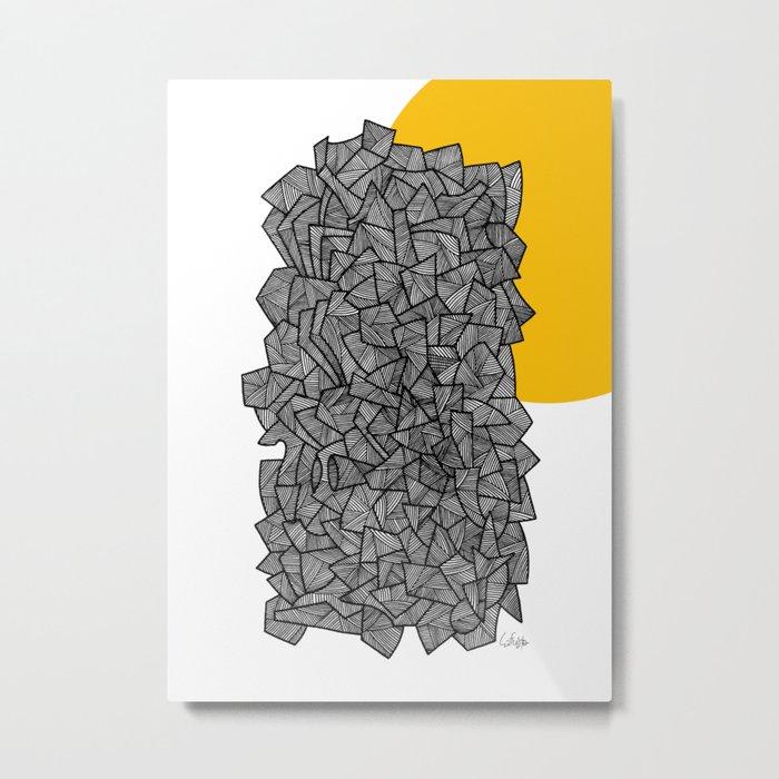 - burn - Metal Print