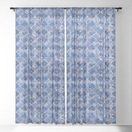 Ogee - Blue Sheer Curtain