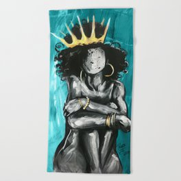 Naturally Queen IX TEAL Beach Towel