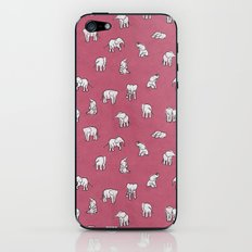 Indian Baby Elephants in Pink iPhone & iPod Skin