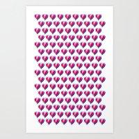 Kid Icarus Hearts x144 Art Print