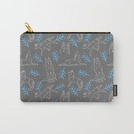 Siberian Husky Pattern Carry-All Pouch