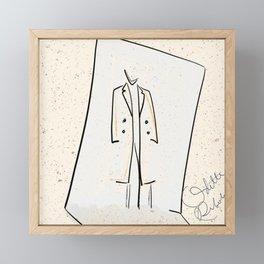 It's a mood 6 | mini fashion print | line art fashion girl Framed Mini Art Print