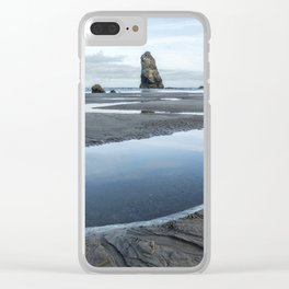 Haystack and the Needles Clear iPhone Case