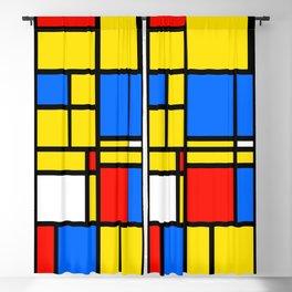 Mondrian Style Blackout Curtain