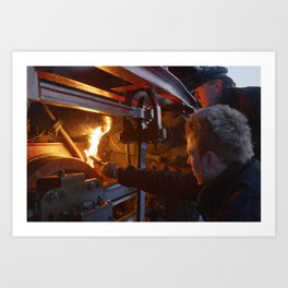 Fixed brake on a steam locomotive Art Print