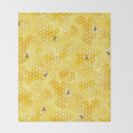 Meant to Bee - Honey Bees Pattern Decke