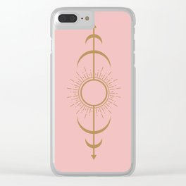 Moon phase Clear iPhone Case
