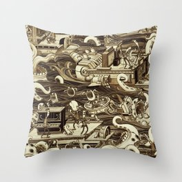 The Battle that Never Was Throw Pillow
